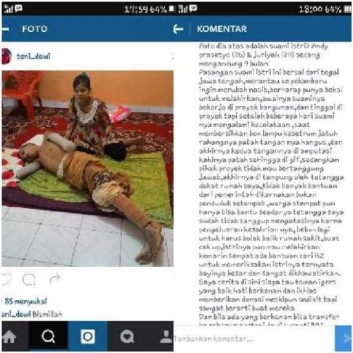Ini Alasan Seorang IRT di Pekanbaru Memposting Foto-foto Korban Kecelakaan Kerja di Alfamart