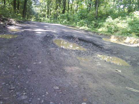 Kondisi Jalan Desa Rantau Langsat Indragiri Hulu Memprihatinkan