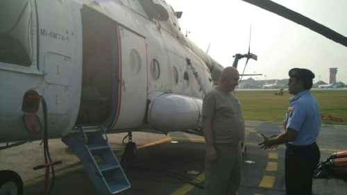 Belukar Sonde Meranti Terbakar, BNPB Kirim Helikopter MI 8 untuk Water Bombing