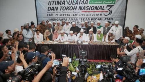 Simpulkan Terjadi Kecurangan Sistematis dan Masif pada Pemilu 2019, Ijtima Ulama III Desak Bawaslu-KPU Batalkan Paslon 01