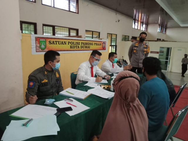 Seminggu Sidang Lapangan Pelanggar Protokol Kesehatan, Aparat Hukum di Riau Kumpulkan Rp 19 Juta dari Masyarakat