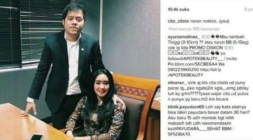 Pedangdut Cita Citata Dipacari Anggota DPR, Foto Ini Buktinya?