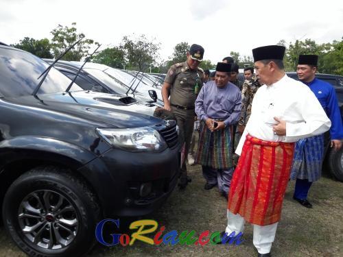 H-5 Idul Fitri, Sudah 436 Kendaraan Dinas ASN Pemprov Riau yang Dikandangkan