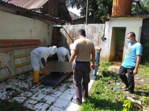 Warga Asal Lampung Ditemukan Tewas Gantung Diri di Kabel Listrik Dekat Kantor Polisi di Rohil