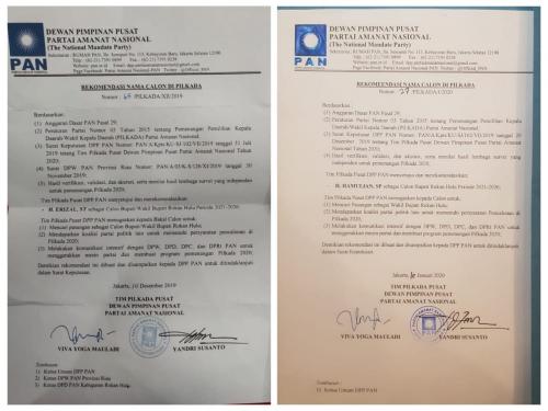 DPP PAN akan Telusuri Dugaan Pemalsuan Surat Rekomendasi Nama Calon di Pilkada Rohul