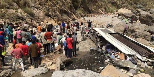 Bus Sarat Penumpang Terjun ke Jurang, 44 Orang Tewas