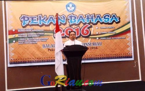 Pekan Bahasa 2016 Dibuka, Peminat Jadi Duta Bahasa di Riau Semakin Banyak