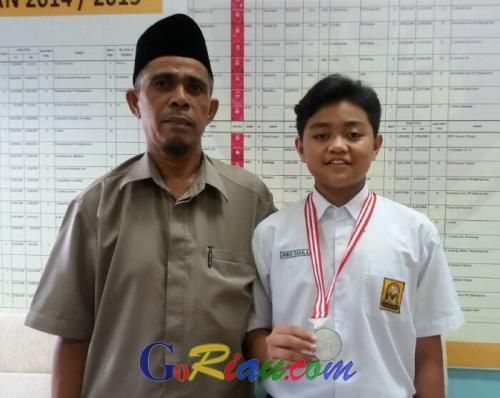 Anaqi Davalas, Pelajar SMP Cendana Duri Raih Medali Perak pada O2SN di Jakarta