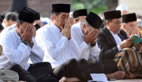 Shalat Id di Sukabumi, Jokowi Didoakan Khatib Dua Periode