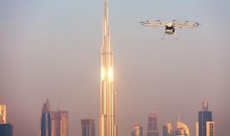 Taksi Terbang Melayang di Ketinggian 200 Meter di Dubai, Ini Penampakannya