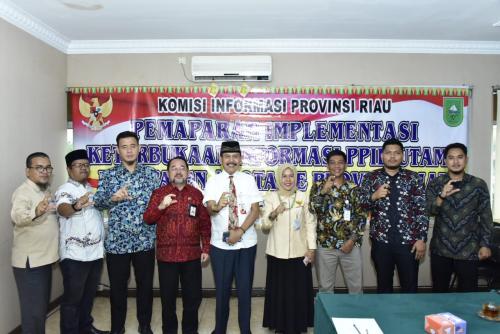 PPID Utama Diskominfotik Bengkalis Dapat Apresiasi KIP Riau