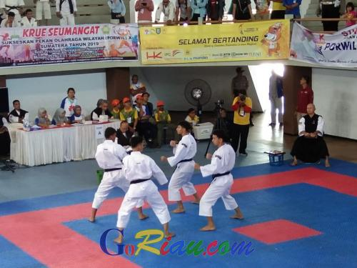 Perdana Dipertandingkan di Porwil, Kempo Riau Optimis Koleksi Medali