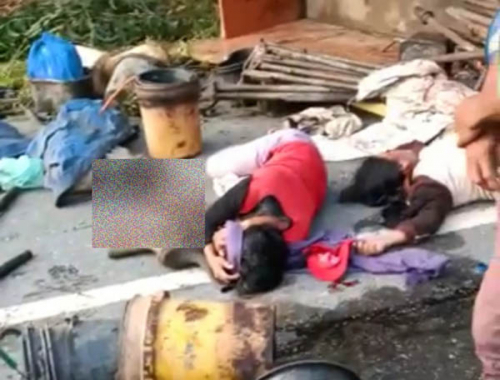 Diduga Ugal-ugalan, Truk Pengangkut Pekerja Terbalik di Simpang Empat Perawang, 17 Orang Terluka