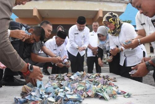 Pegawai Pemkab Bengkalis Galang Dana untuk Korban Tsunami, Terkumpul Rp35 Juta
