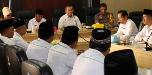 Sambut Kunjungan Kabinda Riau, Bupati Pelalawan Sampaikan Kondisi Daerah