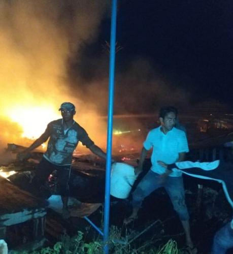 Kebakaran di Kateman, 5 Rumah Warga Ludes Dilalap Si Jago Merah