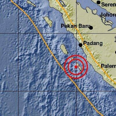 7 Gempa Guncang Mentawai Tadi Sore, 2 Berkekuatan 6,0 Magnitude