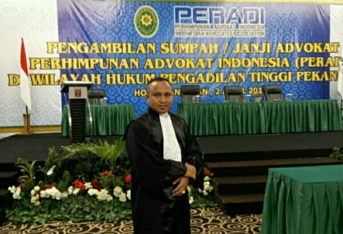 Sebanyak 94 Advokat Baru Dilantik dan Diambil Sumpah, Satu Putra Asli Pelalawan