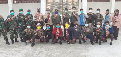 Cegah Covid-19, Kodim 0321 Rohil Gandeng Kwarcab Lakukan Penyemprotan Disinfektan