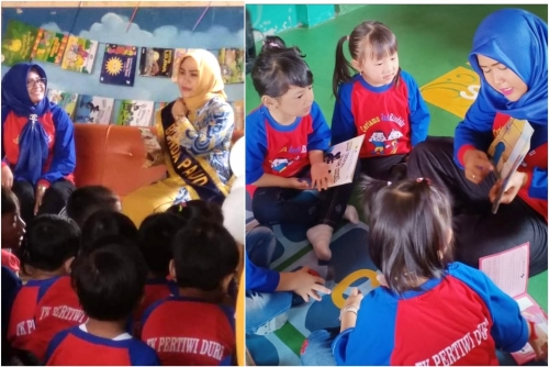 Bukan Sekedar Formalitas, Bunda Paud Kecamatan Mandau Paparkan Manfaat Gernas Baku untuk Anak di TK Pertiwi