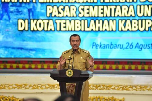 Cari Mitra untuk Kelola Aset Terbengkalai, Gubernur Riau Minta RAPP Bantu Rehab Venue