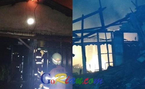 Akses Sulit, Kebakaran di Tenayan Raya Pekanbaru Hanguskan 7 Rumah dan 2 Kendaraan Bermotor