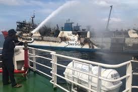 Kapal Gerbang Samudera 1 Terbakar, 127 Penumpang Selamat, 3 Belum Ditemukan