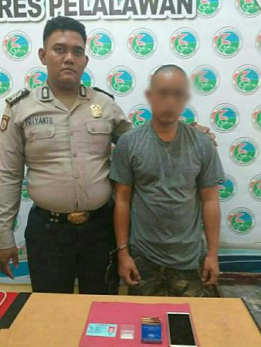 Polisi Amankan Sabu dari Seorang Kurir di Pelalawan