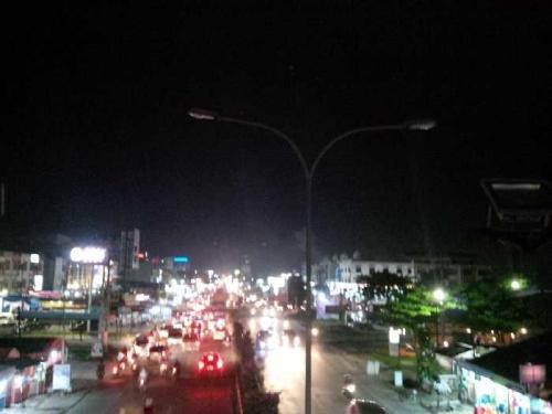 Penerangan Sejumlah Ruas Jalan Protokol Kota Pekanbaru Dipadamkan, Polisi Maksimalkan Patroli di Malam Hari