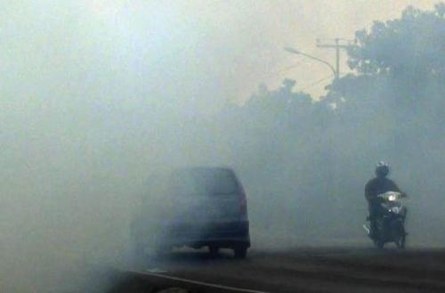 Satlantas Dumai Imbau Pengendara Waspada Kabut Asap