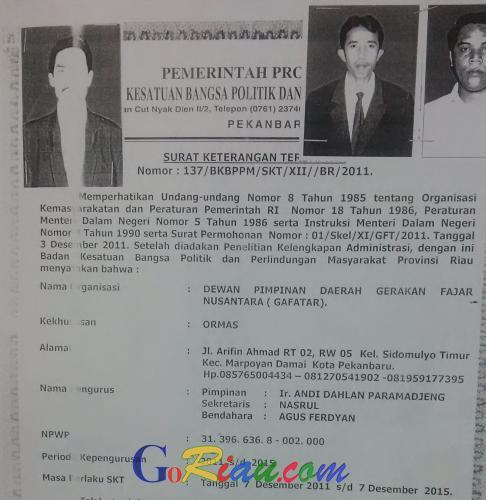 Jumlah Eks Gafatar Riau Tersisa 135 Orang, Berikut Penjelasannya..