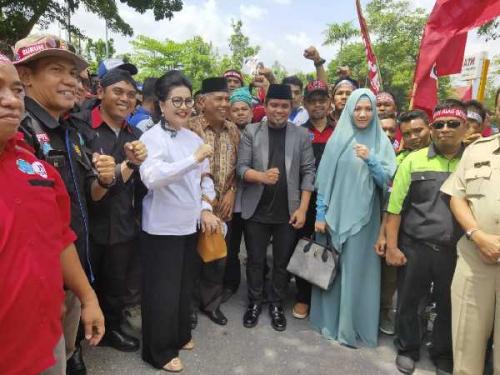 Terima Perwakilan Buruh, Zukri: Kita akan Perjuangkan Tuntutan Buruh