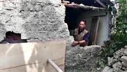 Pulang Tahlilan Usai Gempa, Yoyok Kaget Lihat Rumahnya Ambruk