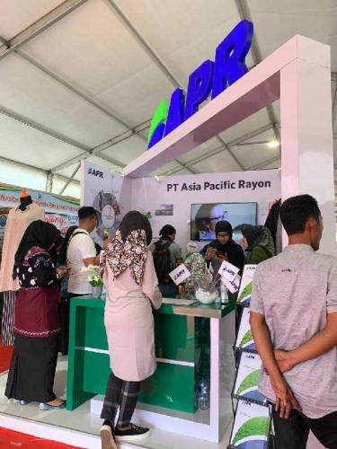 APR Perkenalkan Serat Kayu Menjadi Serat Benang di Riau Expo 2019