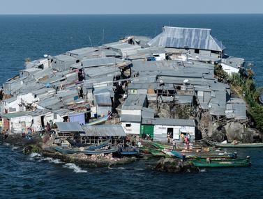 Pulau Terpadat di Dunia, Luasnya Hanya 0,5 Hektare, Penduduknya 1.000 Orang, Ini Penampakannya