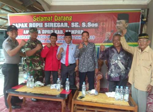 Anggota DPRD Kampar Rofi Siregar Tampung Aspirasi Masyarakat Bukit Sembilan Melalui Reses