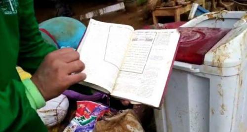Terendam Banjir Bandang, Alquran Ditemukan Kering dan Bersih di Ponpes La Tansa Lebak, Ini Penampakannya