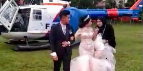 Setelah Membantah, Polda Sumut Akhirnya Akui Helikopter Milik Polri Angkut Pengantin