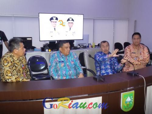 Gubri Syamsuar: Konferensi Video Mudahkan Komunikasi dengan Kabupaten dan Kota di Riau