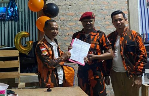 Terima Mandat Ketua MPC PP Pelalawan, Andri Winata Jabat Komandan Koti