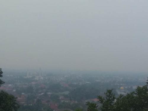 Kabut Asap, Dari Rimbo Panjang Hingga Bangkinang Jarak Pandang Hanya Berkisar Sekitar 70 Meter