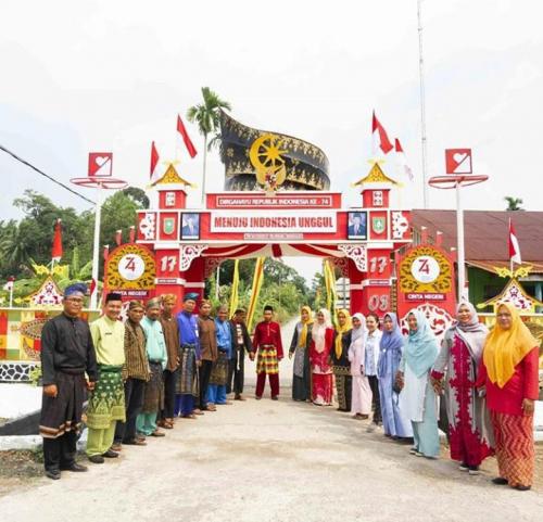 Usung Tema Tanjak, Desa Selatbaru Posisi Keempat Tingkat Nasional