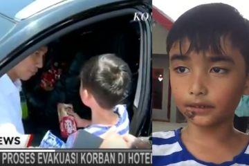 Kisah Pilu Izrael, Bocah yang Minta Ikut dengan Jokowi karena Ibunya Meninggal Akibat Gempa