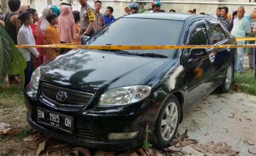 Ini Kronologis Penemuan Mayat Dalam Mobil Vios di Pekanbaru