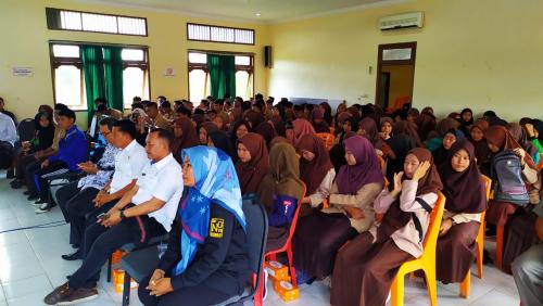 Granat Kepulauan Meranti Sosialisasikan Bahaya Narkoba Kepada Pelajar SMAN 1 Tebingtinggi Barat