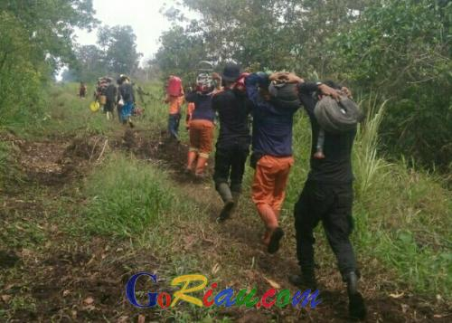 Tim Gabungan Kabupaten Diterjunkan ke Lokasi Kebakaran Teluk Meranti