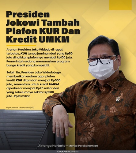 InfoGrafis: Presiden Jokowi Tambah Plafon KUR dan Kredit UMKM