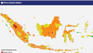 14 Kabupaten dan Kota Zona Merah Covid-19, Tiga di Riau, Ini Daftarnya