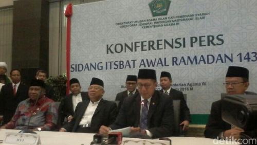 Menteri Agama: 1 Ramadan 1437 H Jatuh Senin