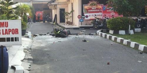 Ini Detik-detik Ledakan Bom di Mapolresta Solo